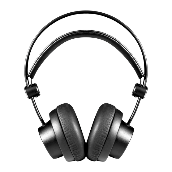 K175 - Black - On-ear, closed-back, foldable studio headphones - Front